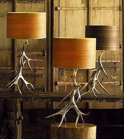 Vintage Antler Lamps Home Decor by Nazmiyal