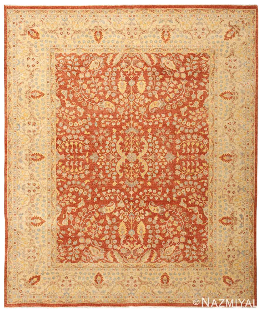 Modern Persian Tabriz Design Rug 44687 Nazmiyal Antique Rugs