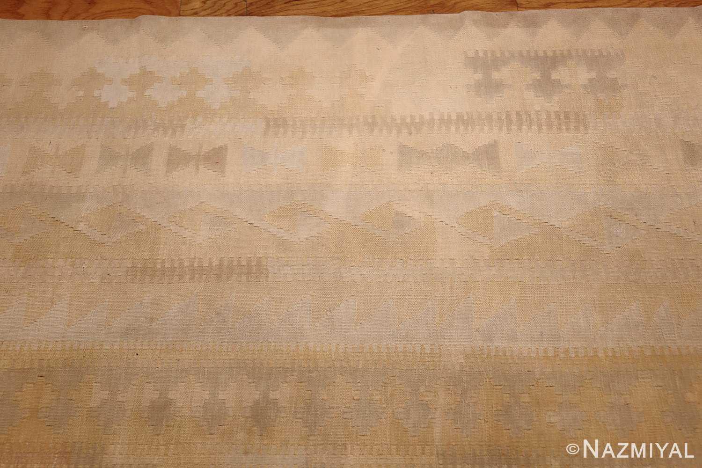 antique cotton indian dhurrie rug 44919 border Nazmiyal
