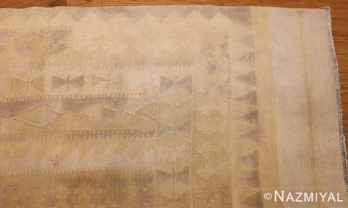 antique cotton indian dhurrie rug 44919 corner Nazmiyal