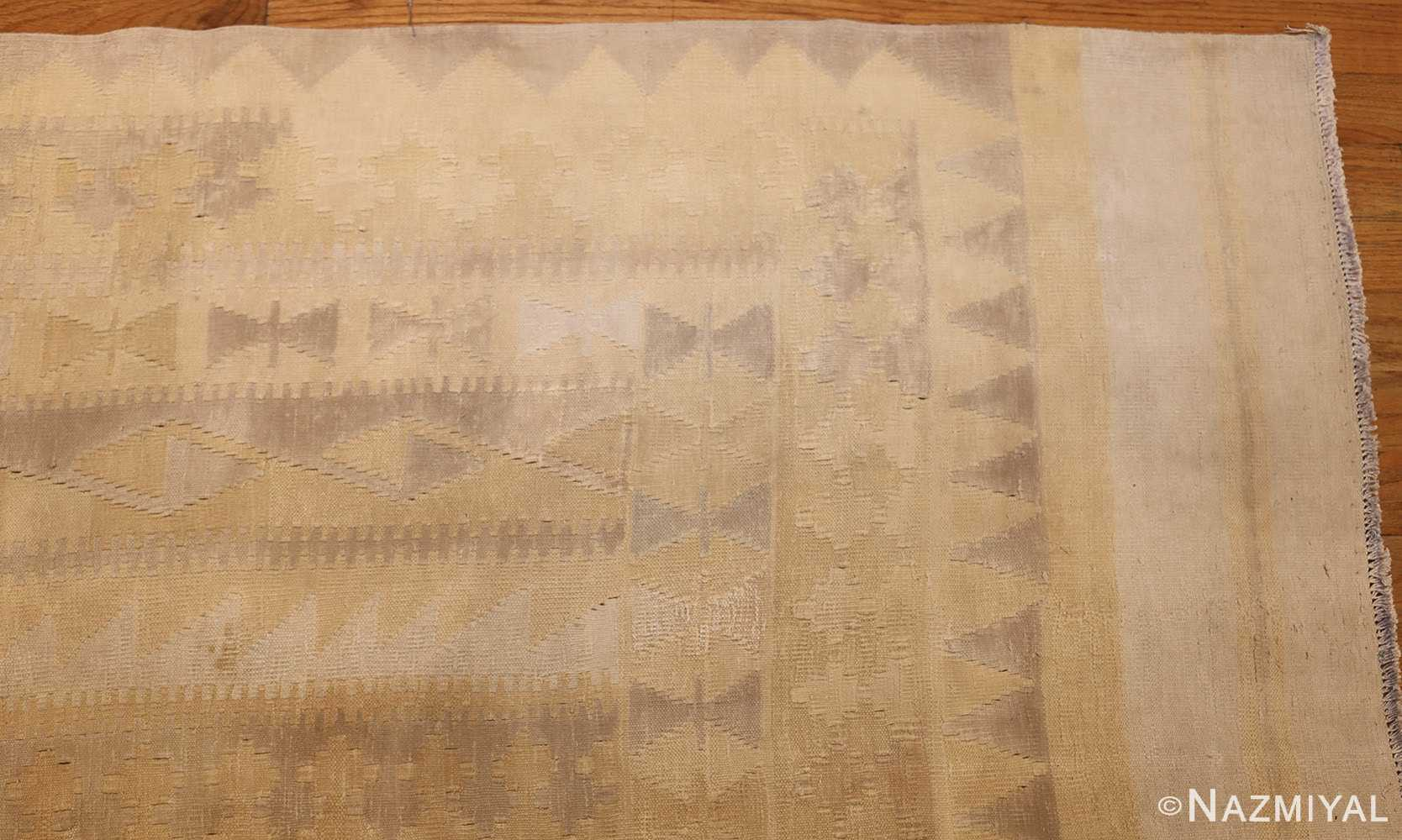 antique cotton indian dhurrie rug 44919 corner Nazmiyal