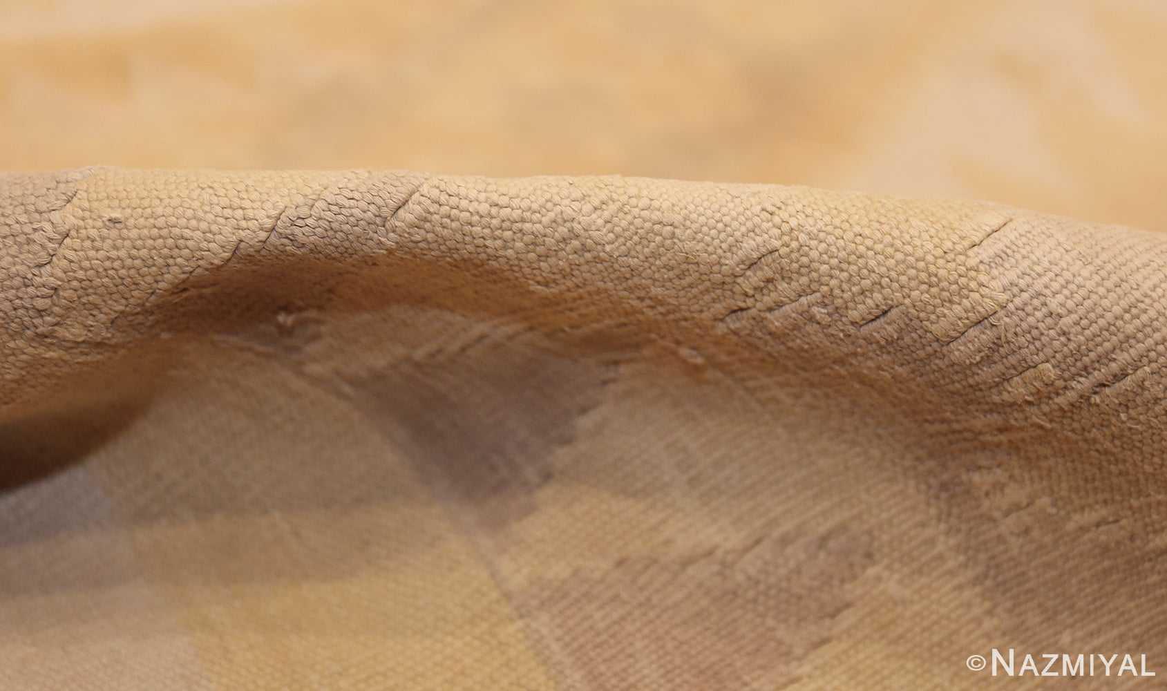 antique cotton indian dhurrie rug 44919 pile Nazmiyal