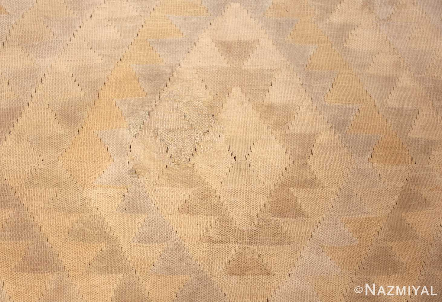 antique cotton indian dhurrie rug 44919 triangles Nazmiyal