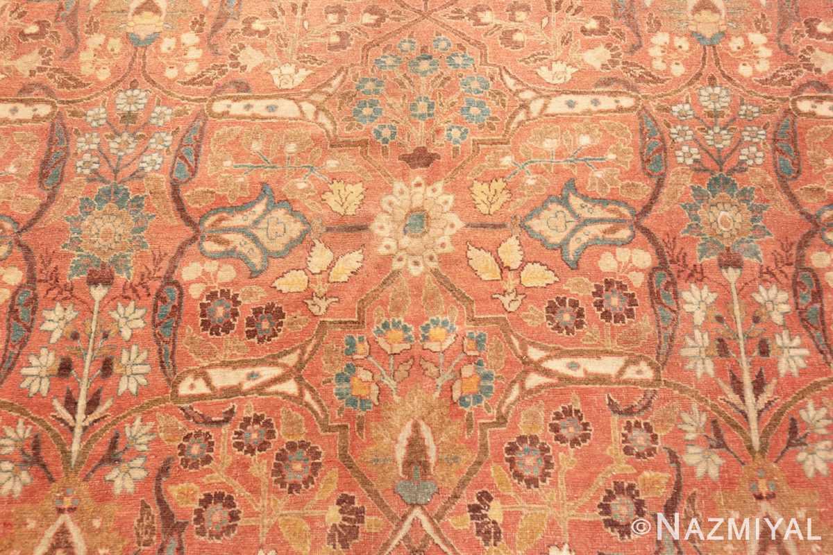 Background Antique Tabriz Persian rug 45194 by Nazmiyal