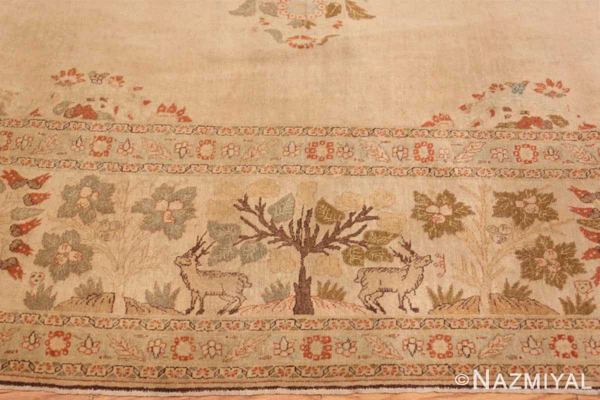 Border Antique Tabriz Persian rug 45088 by Nazmiyal
