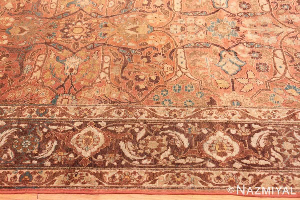 Border Antique Tabriz Persian rug 45194 by Nazmiyal