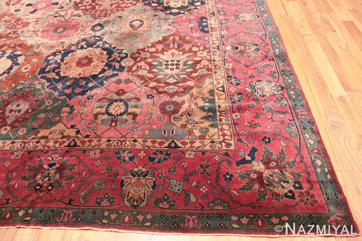 Corner Antique Indian rug 45206 by Nazmiyal