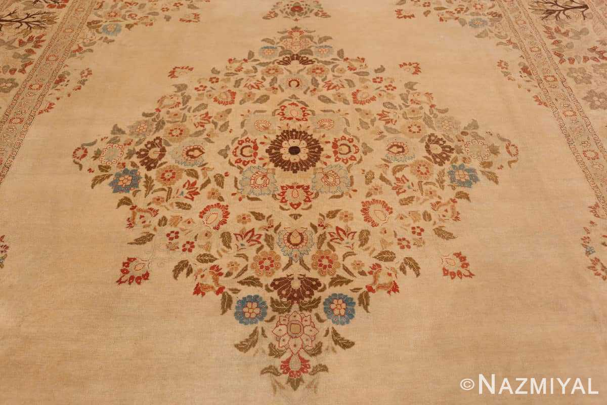Field Antique Tabriz Persian rug 45088 by Nazmiyal