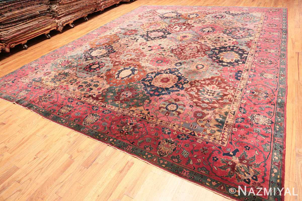 Full Antique Indian rug 45206 by Nazmiyal