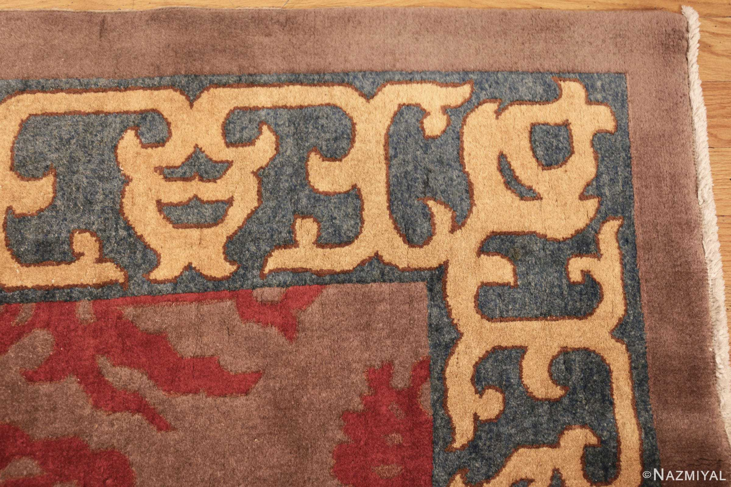 vintage chinese art deco rug 45270 corner Nazmiyal