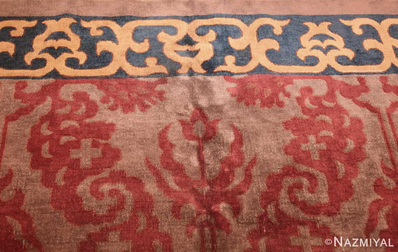 vintage chinese art deco rug 45270 top Nazmiyal