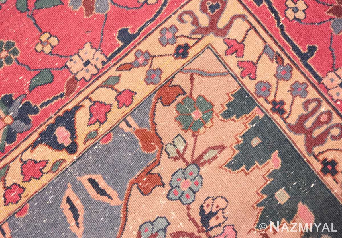 Weave detail Antique Indian rug 45206 by Nazmiyal
