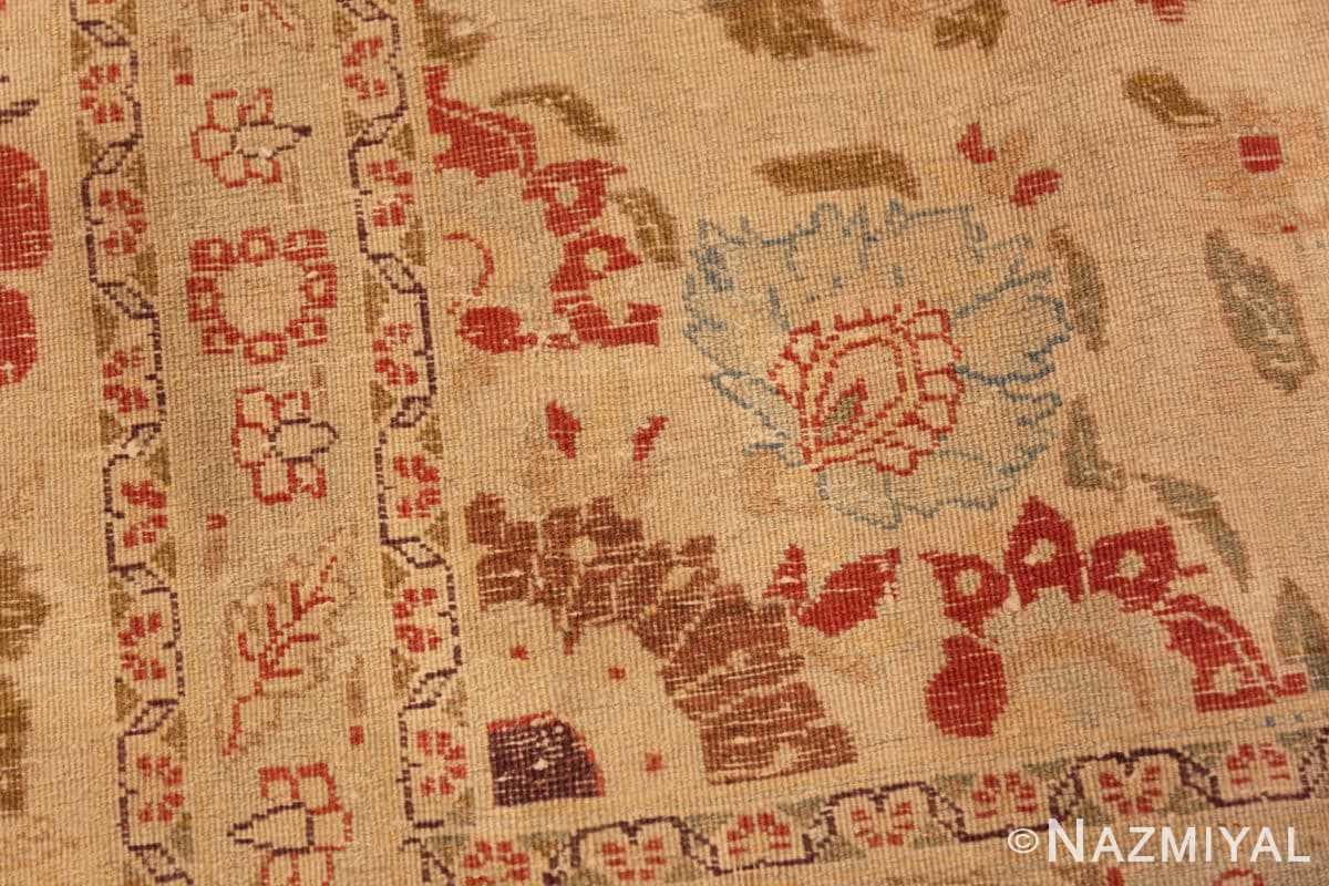 Weave detail Antique Tabriz Persian rug 45088 by Nazmiyal
