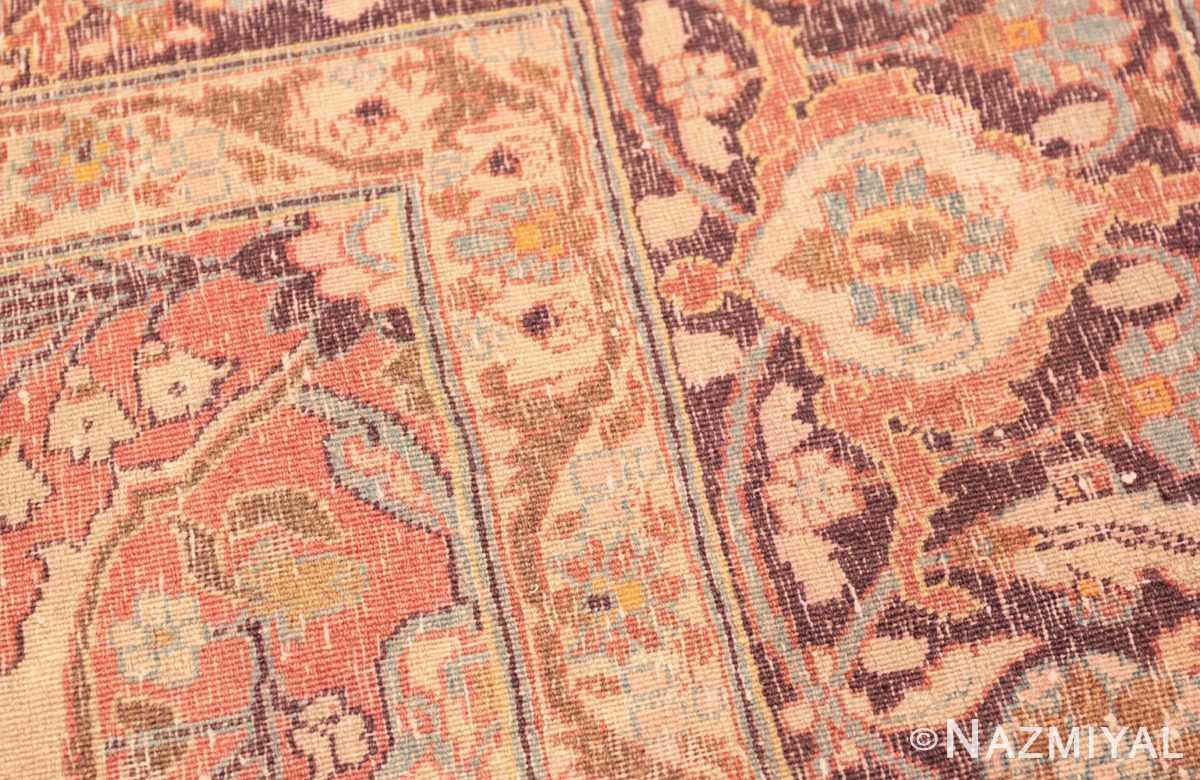 Weave detail Antique Tabriz Persian rug 45194 by Nazmiyal
