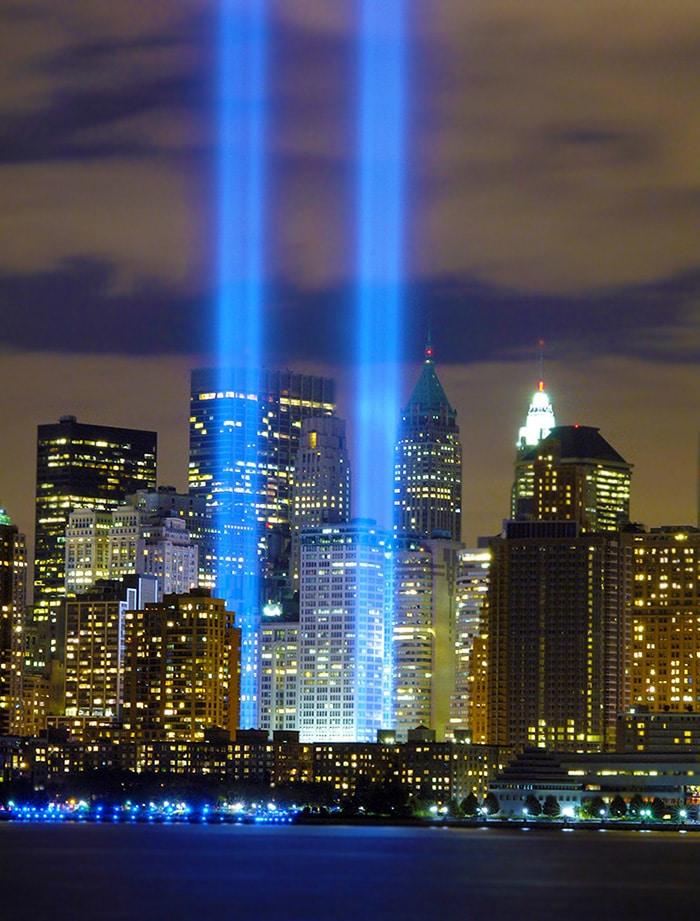 9/11 Light Beams Tribute at Ground Zero Nazmiyal