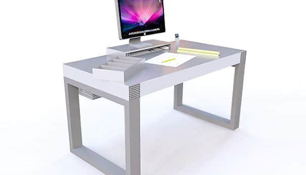 Metal Modern Office Desk Design by Nazmiyal