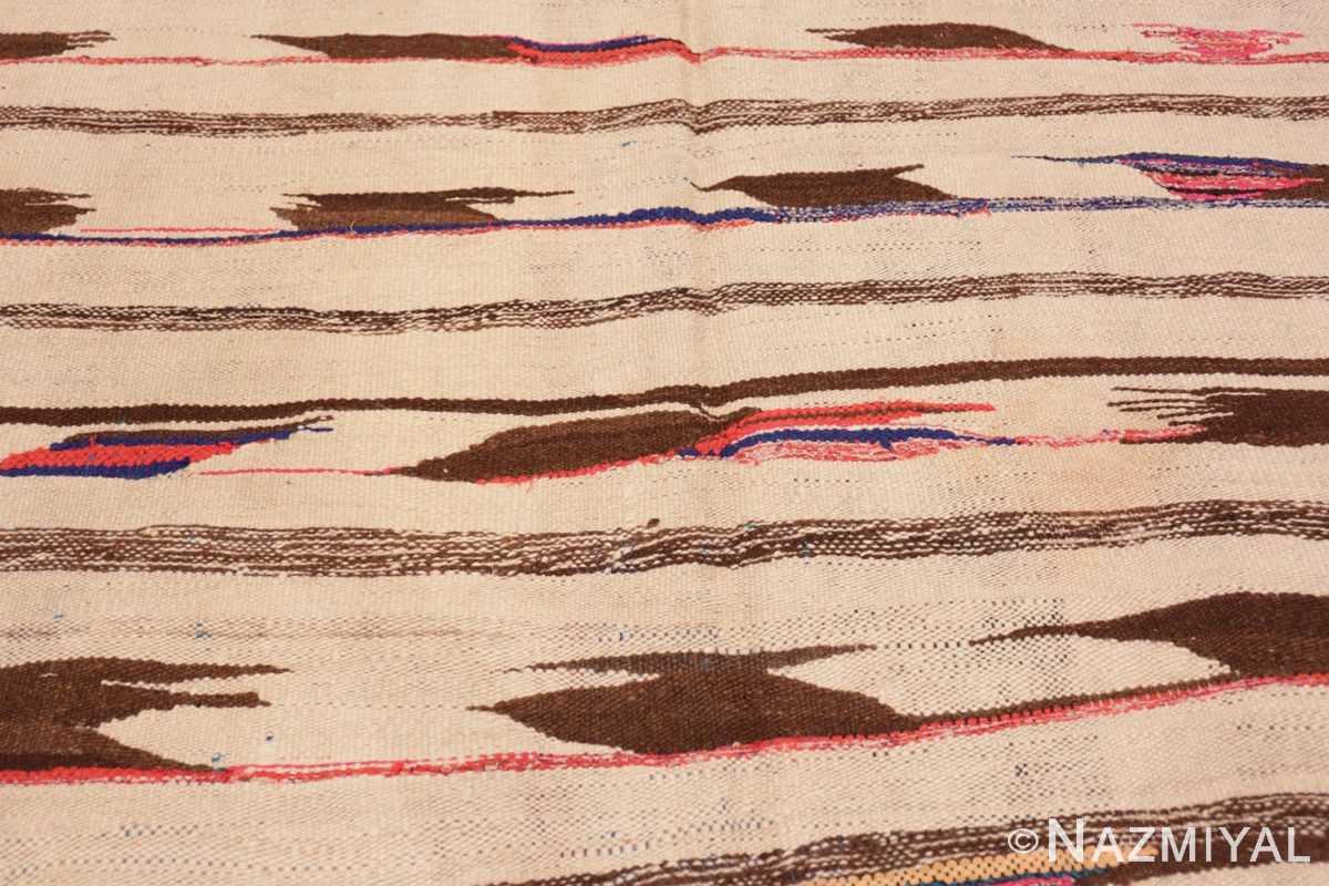 Background Flat woven Vintage Moroccan Kilim rug 45377 by Nazmiyal
