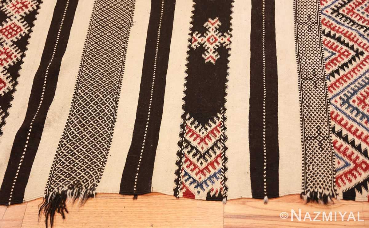 Border Vintage Moroccan Kilim 45379 Nazmiyal