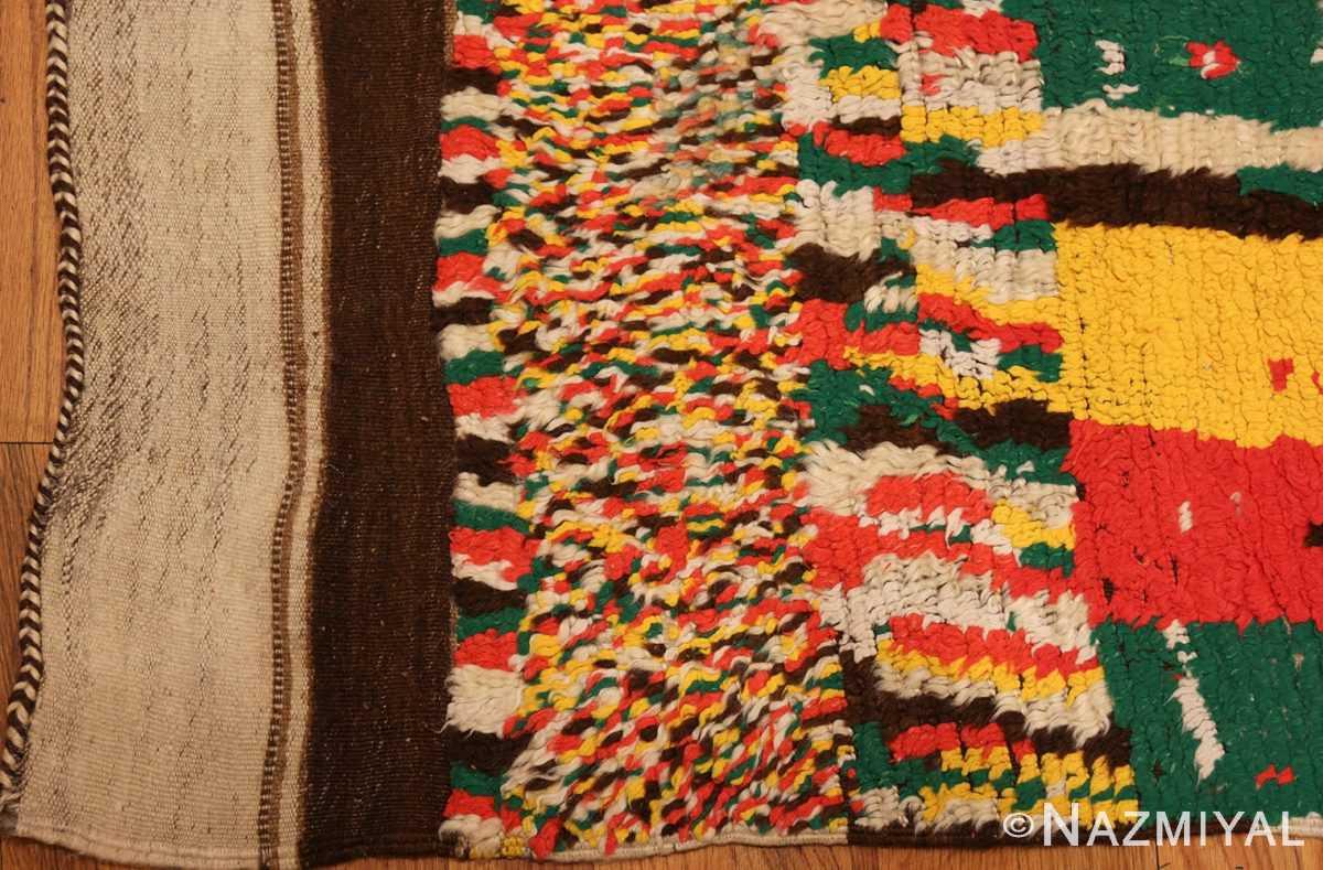 colorful vintage mid century moroccan rug 45333 corner Nazmiyal