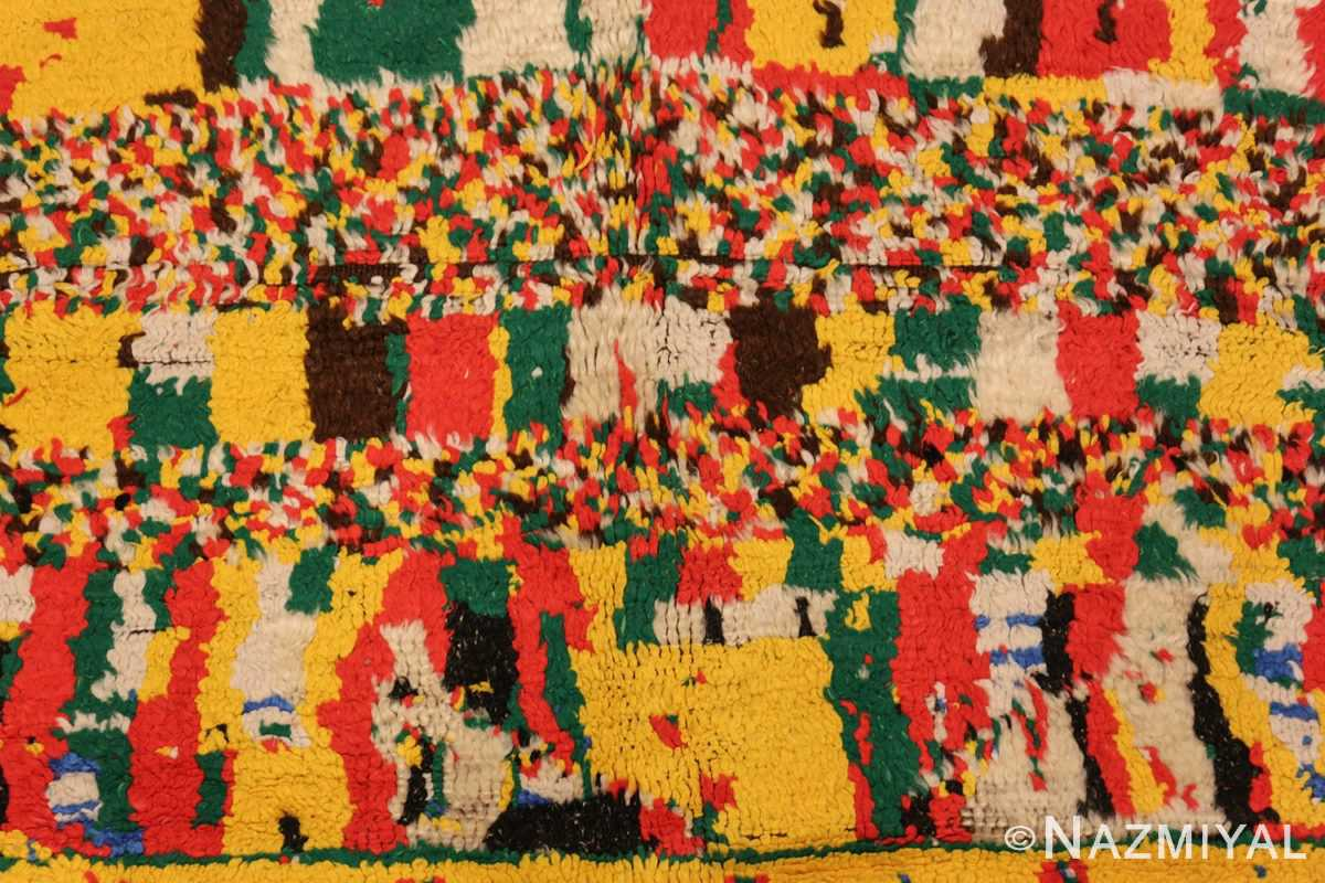 colorful vintage mid century moroccan rug 45333 design Nazmiyal