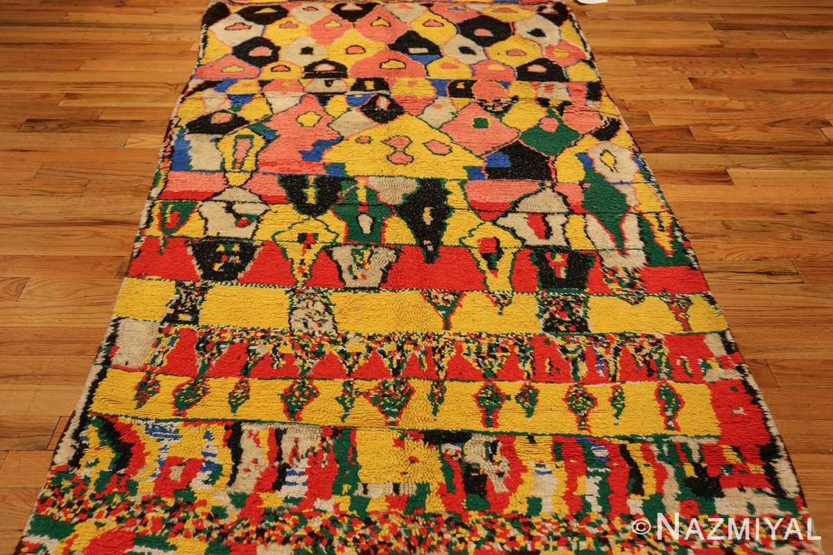 colorful vintage mid century moroccan rug 45333 field Nazmiyal