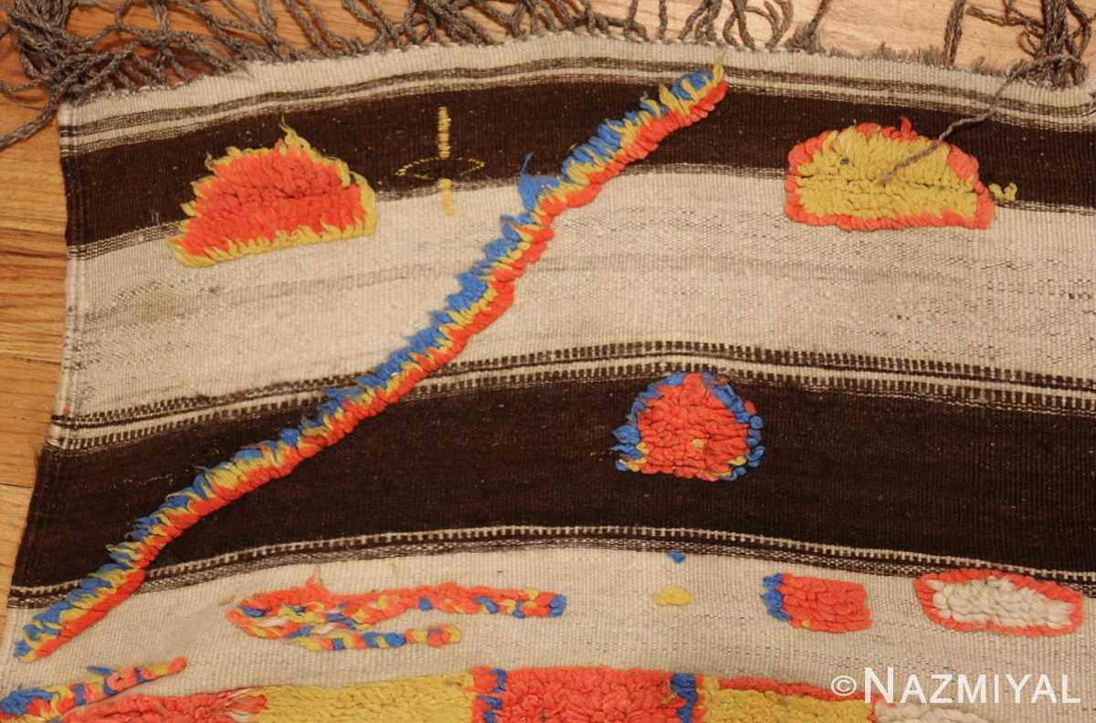 colorful vintage mid century moroccan rug 45333 flatweave Nazmiyal