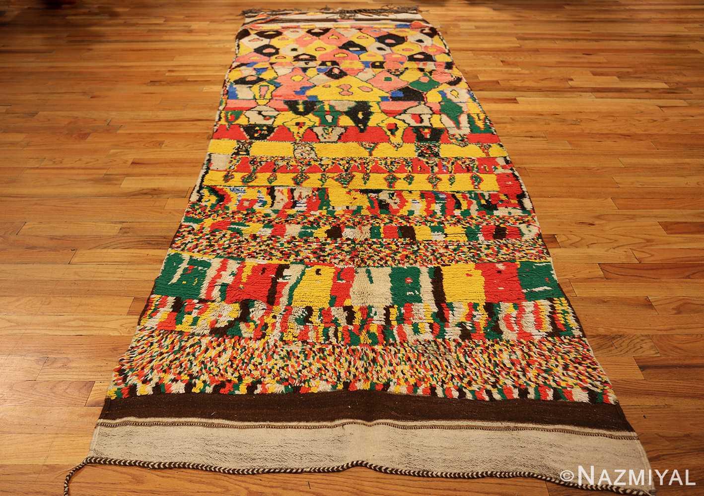 colorful vintage mid century moroccan rug 45333 full Nazmiyal