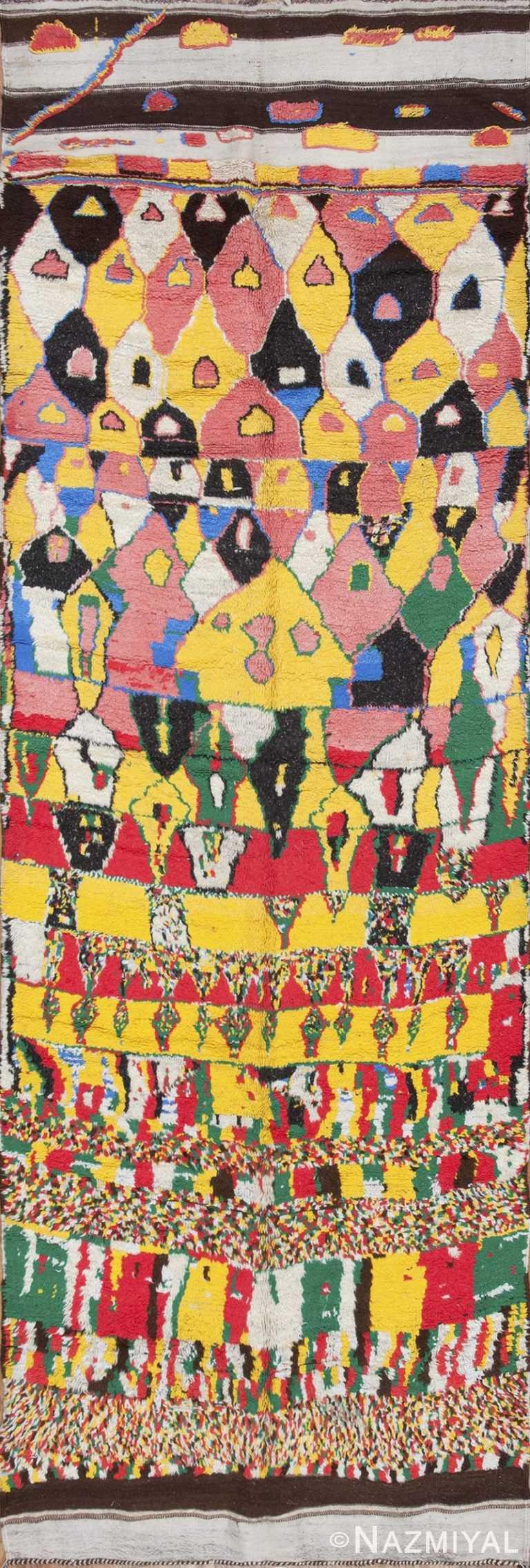 colorful vintage mid century moroccan rug 45333 Nazmiyal Nazmiyal
