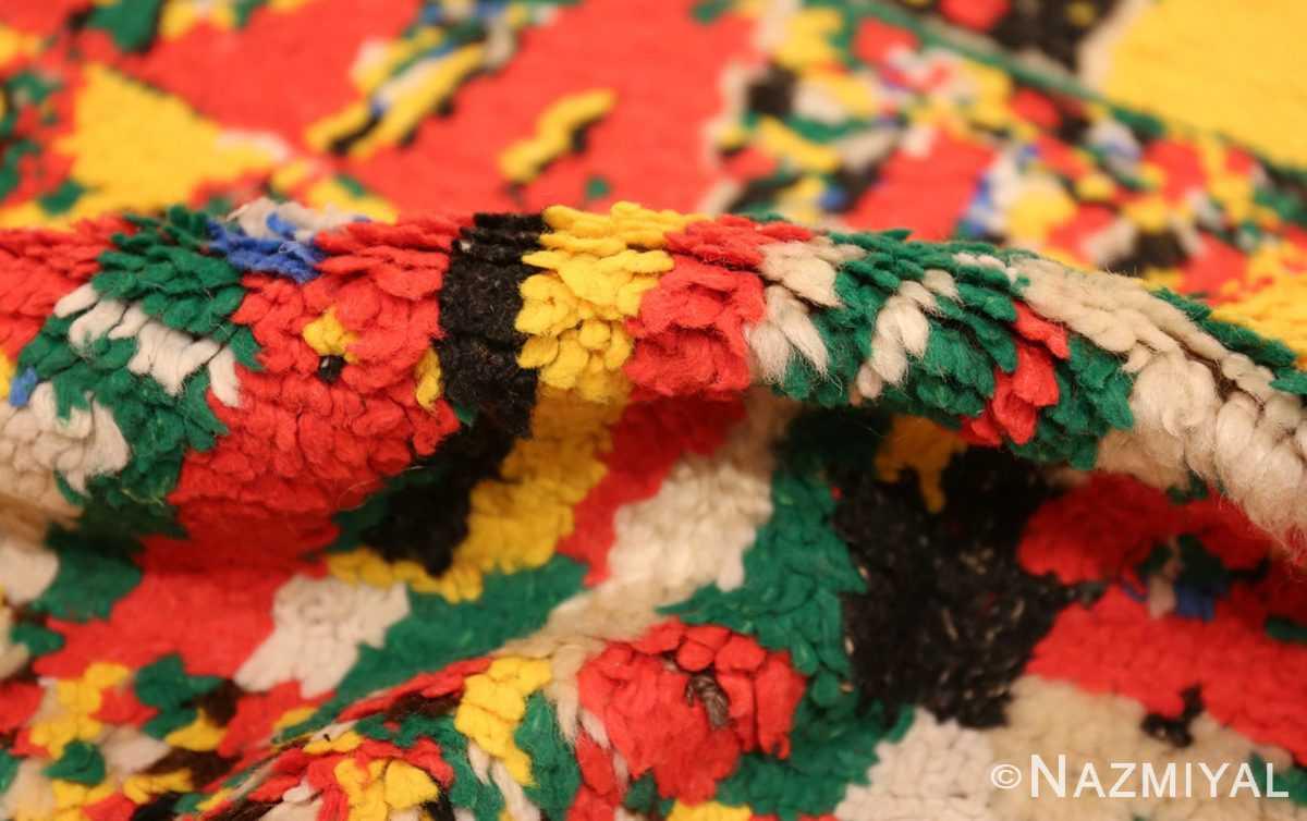 colorful vintage mid century moroccan rug 45333 pile Nazmiyal