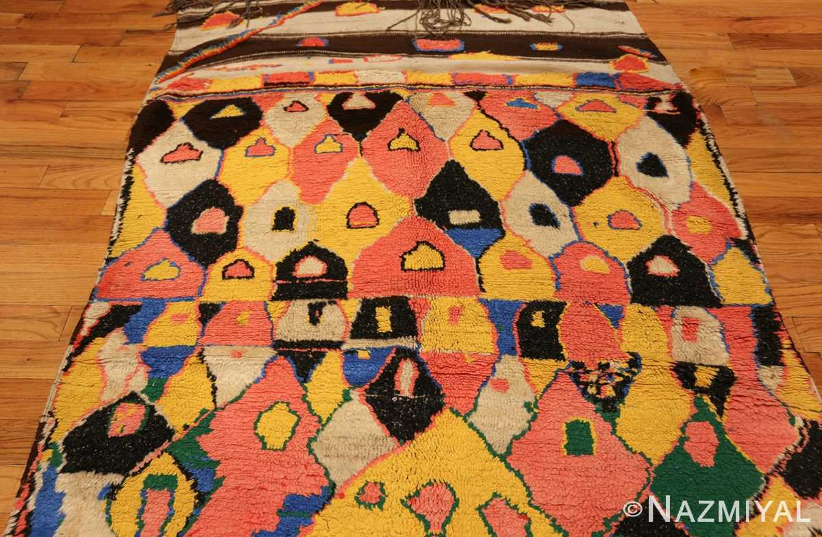 colorful vintage mid century moroccan rug 45333 top Nazmiyal