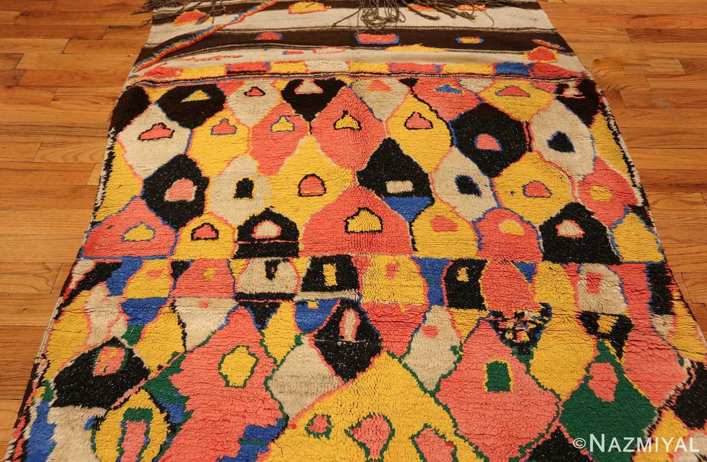colorful vintage mid century moroccan rug 45333 top Nazmiyal