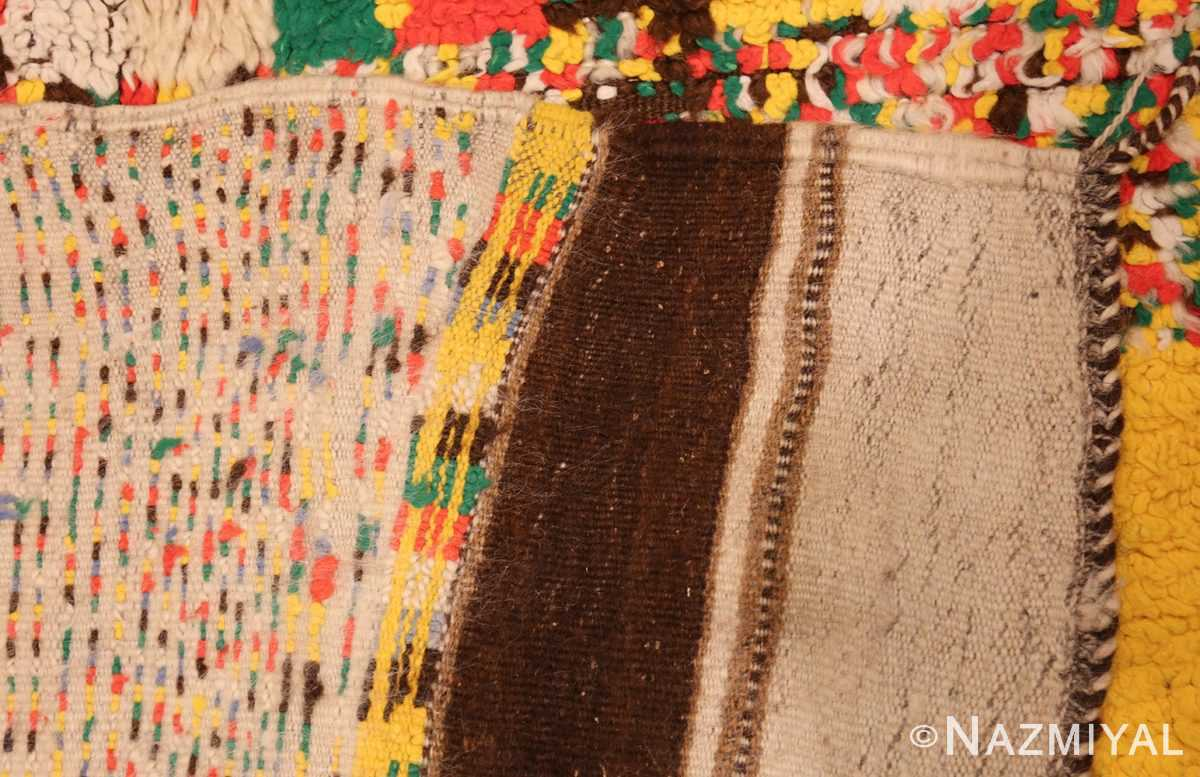 colorful vintage mid century moroccan rug 45333 weave Nazmiyal