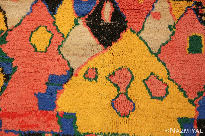 colorful vintage mid century moroccan rug 45333 yellow Nazmiyal