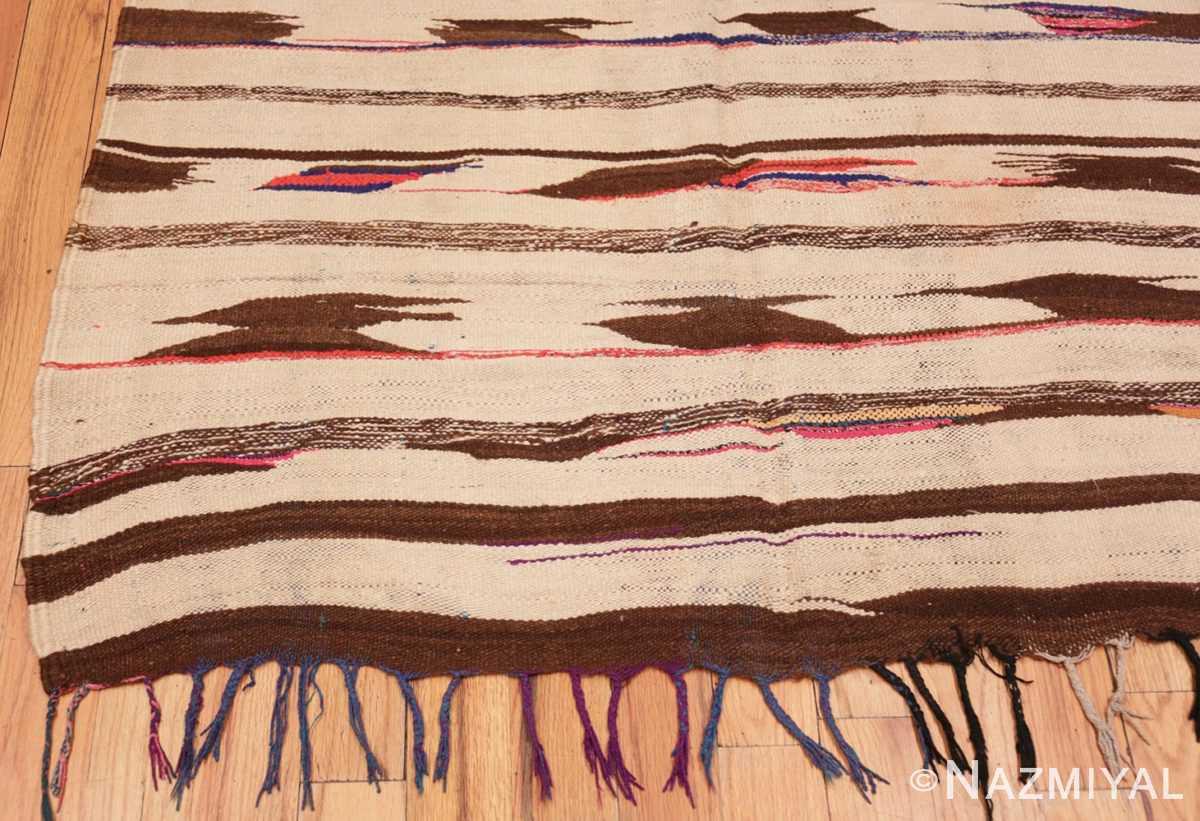 Corner Flat woven Vintage Moroccan Kilim rug 45377 by Nazmiyal