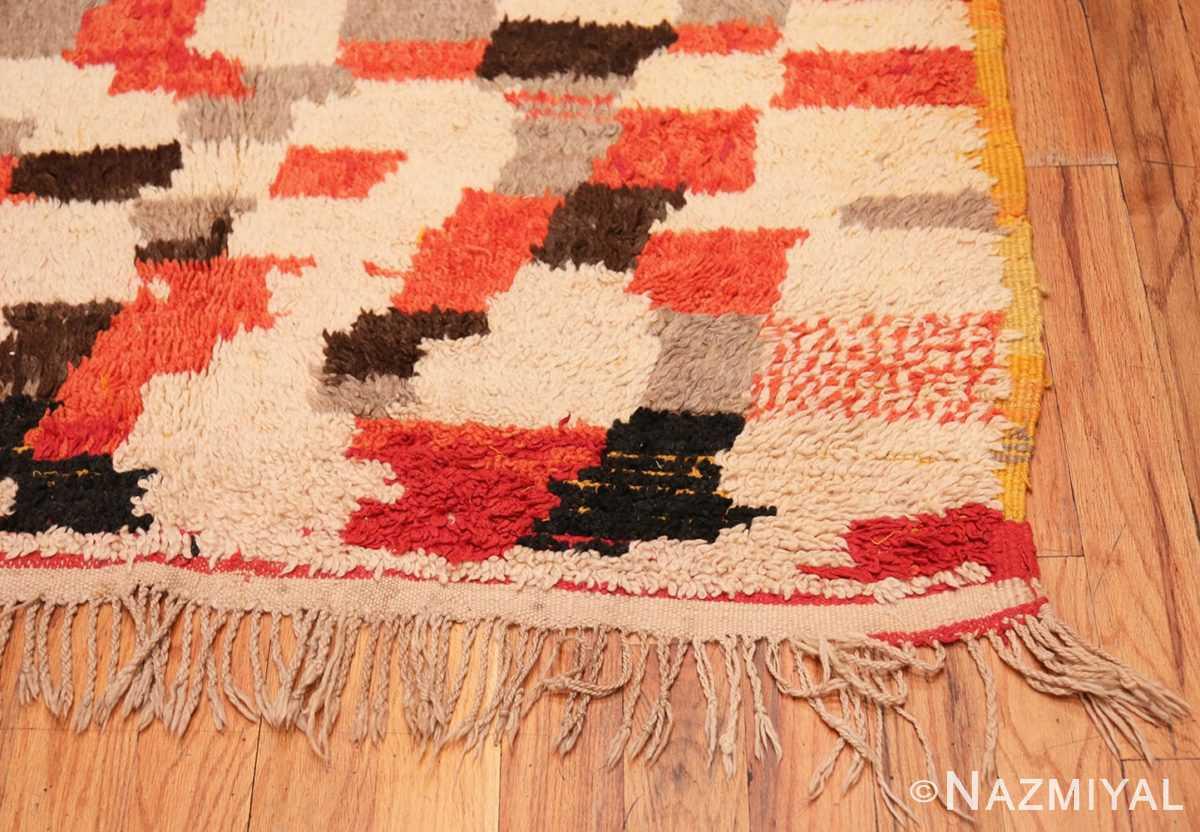 Corner Vintage mid century Morocan rug 45350 by Nazmiyal
