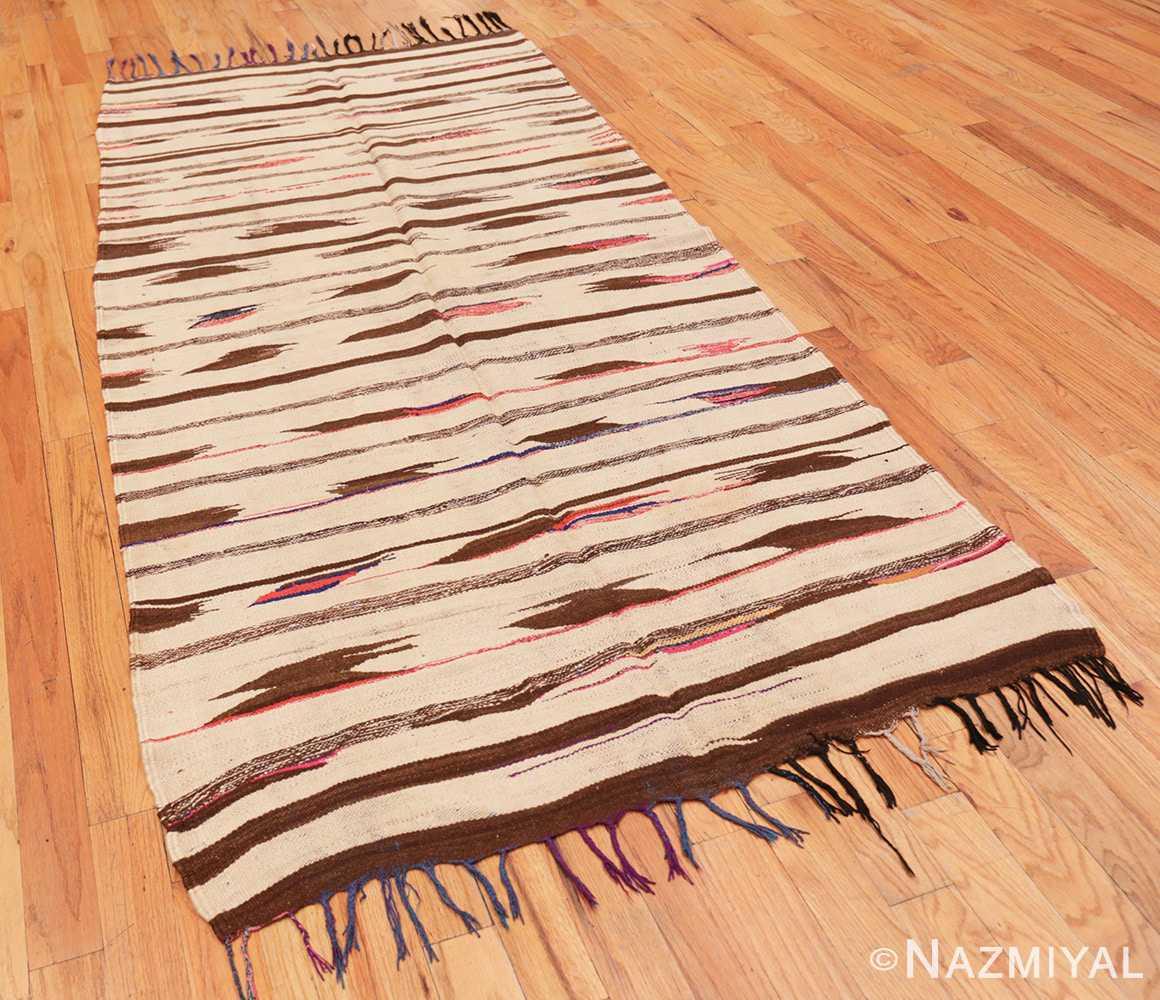 Full Flat woven Vintage Moroccan Kilim rug 45377 by Nazmiyal
