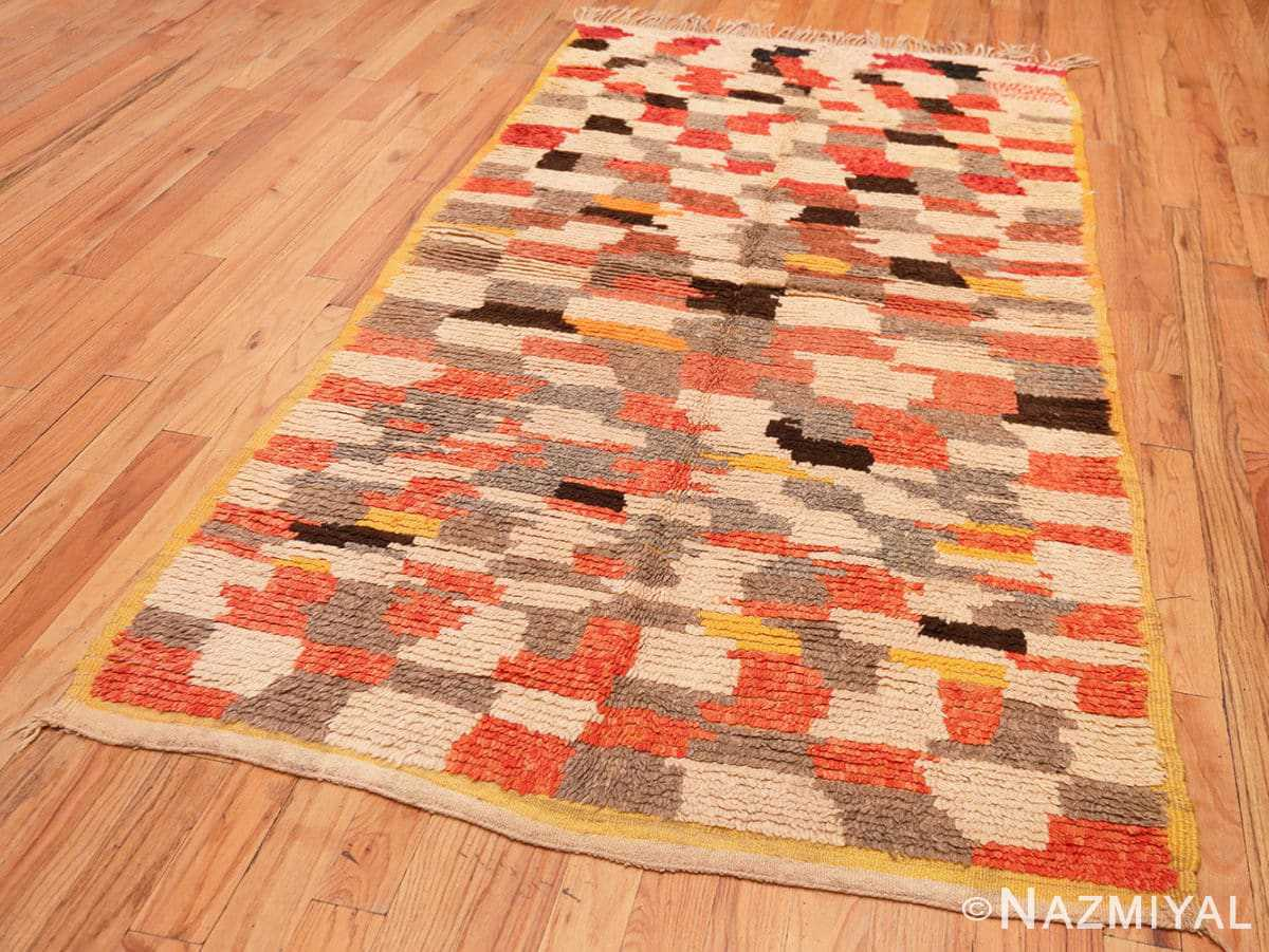 Full Vintage mid century Morocan rug 45350 by Nazmiyal