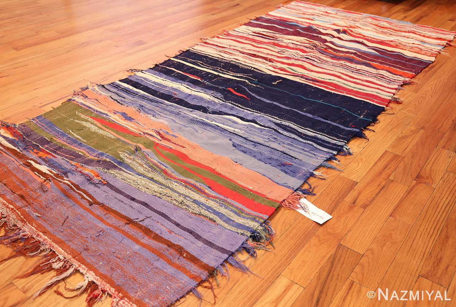vintage moroccan rug 45451 side Nazmiyal