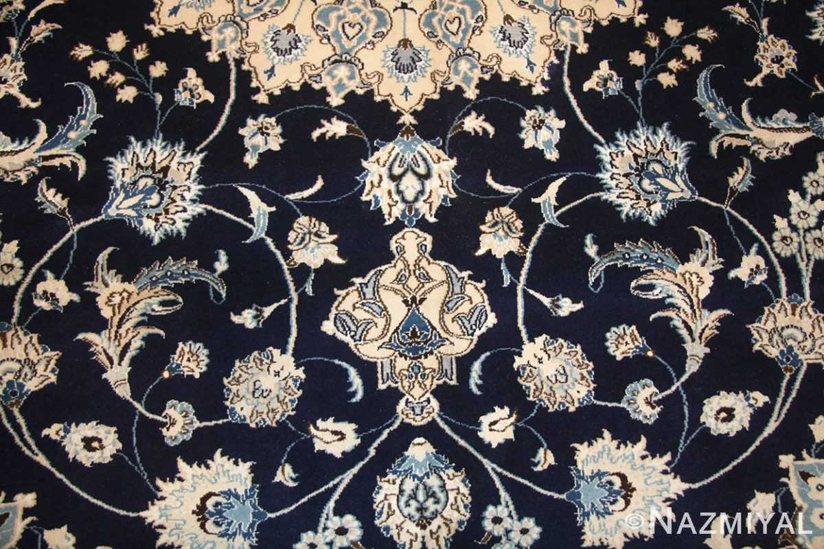 vintage persian silk and wool nain rug 45066 field Nazmiyal