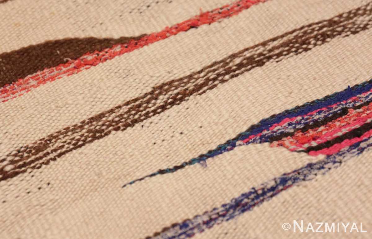 Weave detail Flat woven Vintage Moroccan Kilim rug 45377 by Nazmiyal