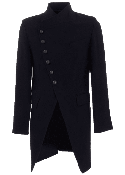 Ann Demeulemeester Wool Men's Winter Coat Fashion - Nazmiyal