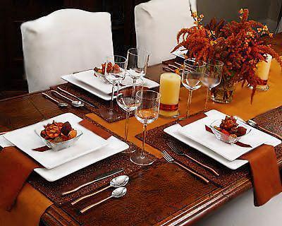 Business Fall Table Setting- Nazmiyal