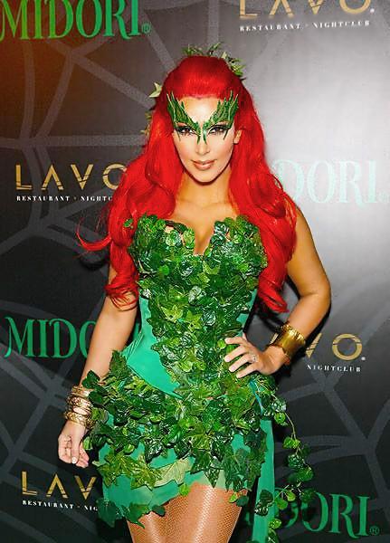Celebrity Kim Kardashian Dressed Up In A Halloween Costume - Nazmiyal