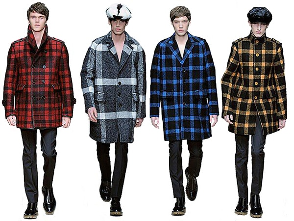 Men's Plaid Winter Coats Fashion - Nazmiyal