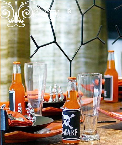 Modern Halloween Table Setting by Nazmiyal