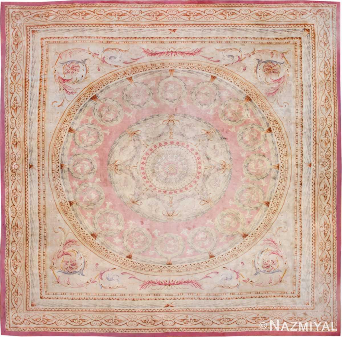 Savonnerie Carpet | Antique Rug | HR | 45464 by Nazmiyal