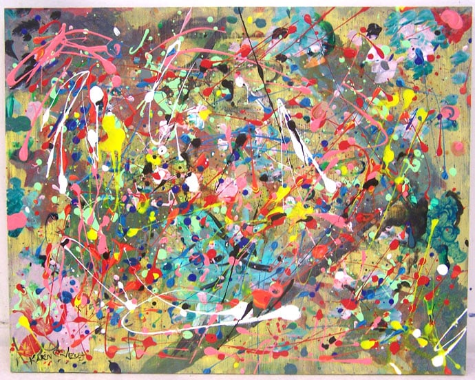 Paintings by famous artists jackson pollock art for kids for Artistic mural works