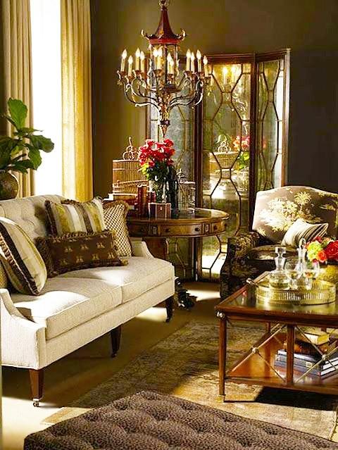 Chocolate Brown Color Living Room Interior Design Nazmiyal