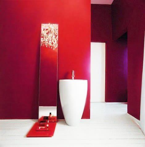 Crimson Red Bathroom Interior Design Nazmiyal