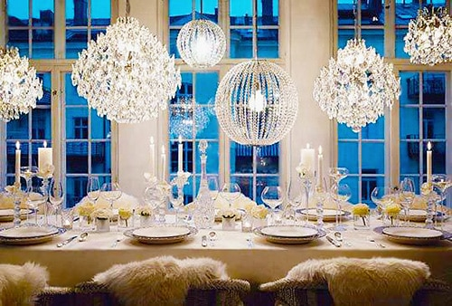 Crystal Winter Wonderland Table Setting - Nazmiyal